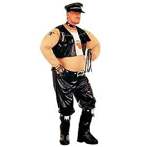 Costume rigolo de rockeur biker gras déguisement costume avec bourrelet costume de motard déguisement de rocker gras Mardi gras Carnaval M/L 48-52