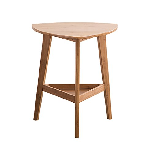 C-J-X TABLE C-J-Xin Freizeit-Telefon-Tabelle, Sofa-Dreieck-Seiten-Bambus-Beistelltisch-bewegliche Couchtisch-niedrige Tabellen-Speicher-Tabelle 49 * 50 * 57CM Platz Sparen