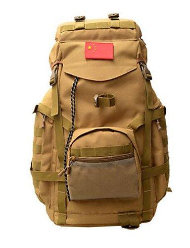 HWB/ 75 L Rucksack Camping & Wandern Draußen Multifunktions Braun / Tarnfarben Oxford Other Khaki