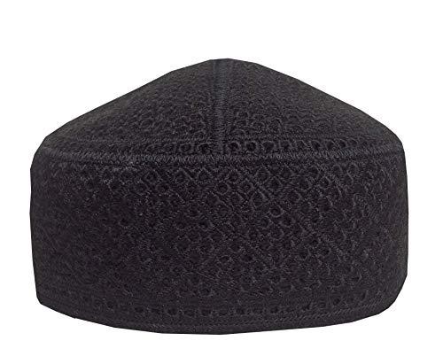 cb880bcce28e7 NDA Men s Muslim Prayer Hat Eid Skull Cap Pakistani Taqiya Takke Kofia Topi  (Black)