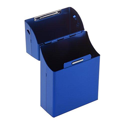 SODIAL (R) Magnetic King Size Metallo Alluminio Pocket sigaretta Cigar Tabacco Caso Holder - Blu