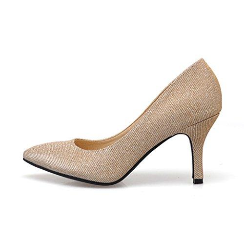 XTIAN - Scarpe con Tacco Donna Champagne
