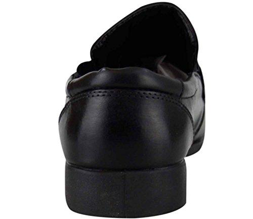 Neue Herren Classic Arbeitszimmer Work Party Schuhe Casual PU-Leder-Kleid Stiefe Black 10-7021-04