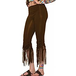 Forum Women's Generation Hippie Fringe Pants, Brown, Medium/Large