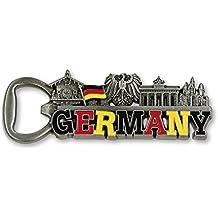 Metallmagnet Flaschenöffner Germany silber