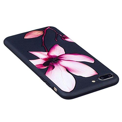 """MOONCASE iPhone 7 Plus Coque, [Relief Pattern] Flexible TPU Protection Housse Ultra Slim Armure Anti-choc Defender Etui Case pour iPhone 7 Plus 5.5"""" Mandala Lotus"""