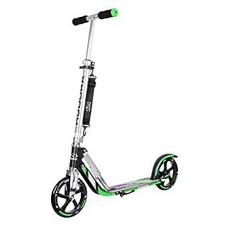HUDORA Big Wheel Scooter 205 - Das Original, Tret-Roller klappbar - City-Scooter - 14708, grün/schwarz