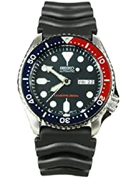 Seiko SKX009K2 Mens Automatic 200M Divers Watch - Black Belt with Blue Dial