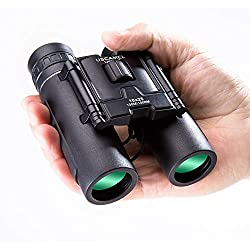 USCAMEL Mini Compactes Puissantes Jumelles Enfant Adultes puissante 10x25 Compactes (Noir)