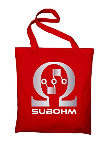Subohm Culture Dampfer Logo Jutebeutel, Beutel, Stoffbeutel, Baumwolltasche, gelb Rot