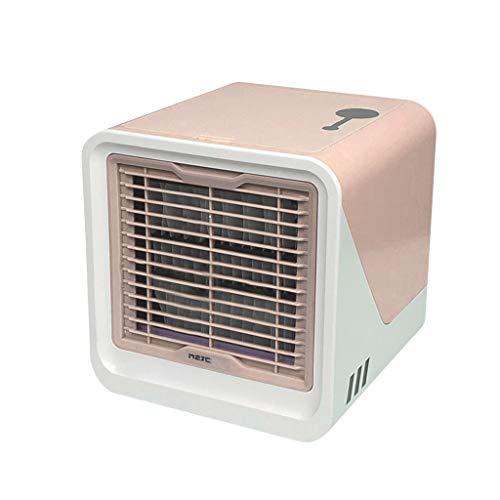 TIREOW Mobile Klimageräte, Mini-Luftkühler, Persönliche Klimaanlage, Luftbefeuchter und Luftreiniger, USB Mini Luftkühler mit Wassertank für Zuhause und Büro (Rosa)