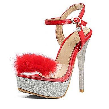 LvYuan Da donna-Sandali-Matrimonio Formale Casual-Altro-A stiletto-PU (Poliuretano)-Nero Rosso Bianco Red