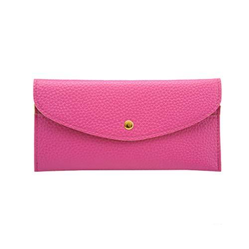 LILIHOT Mode Frauen Handtasche Reine Farbe Leder Kurze Brieftaschen Lässige Einfachheit Geldbörse Karteninhaber Multi Funktionskarte Paket Einfache Und Großzügige Aufbewahrung Der Geldbörse - Lavendel Vintage Handtasche