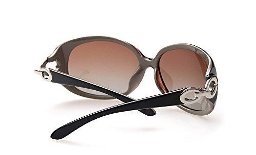 Yiph-Sunglass Sonnenbrillen Mode Marke Übergroßen Mode Sonnenbrillen Frauen Sonnenbrille Runde Brille Brillen Zubehör Gafas De Sol (Color : Coffee)