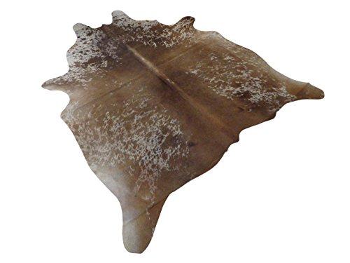 Tapis Peau De Vache Luxe - Marron et Blanc - 185 cm x 162 cm Déco Tapis Intérieur de Narbonne Leather Co