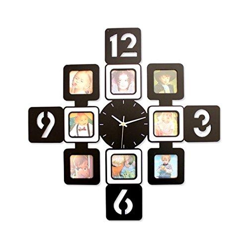 Sunjun Rahmen Fashion Personality-Taschen-Uhr-Taktgeber-Wand-Taktgeber-kreative Moderne minimalistische Wohnzimmer Mute ( stil : A )