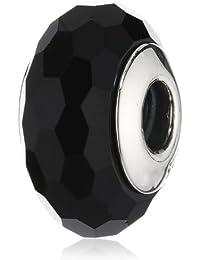 Pandora Damen-Charm 925 Sterling Silber Muranoglas schwarz 791069