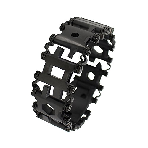Schwarz Multitool Armband Werkzeug Edelstahl,Notfall-Tool Opener Schraubendreher_Colorful