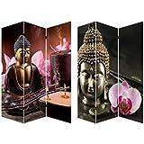 Biombo Mod. Buda Zen Wabi-Sabi fotoimpresión sobre lienzo reforzado montado sobre bastidores de madera.