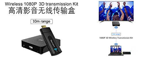 MEASY W2H MINI Wireless HDMI video kit Transmitter   Receiver W2H MINI for HD 1080p 3D Video   Digital Audio from Laptop  PC to HD143X HDMI 3000 ANSI Lumens Projector up to 10m 33 feet