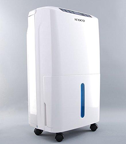 Deumidificatore per ambienti 2.5l di icoco, 100m² 22l/d deumidificatore ionizzatore e purificatore memoria di spegnimento e tempo intelligente, deumidificatore silenzioso evitare batteri e umidità