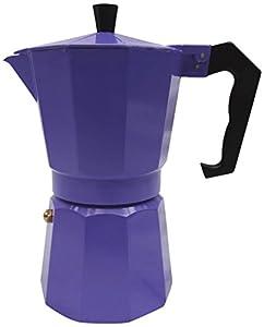 Innova Brands IVKEMP3 Italian Espresso Stove Top Coffee Maker Continental Moka Percolator Pot, Purple-P