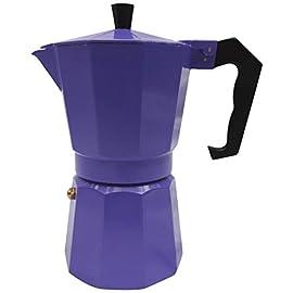 Innova Italian Espresso Stove Top Coffee Maker Continental Moka Percolator Pot, 1 Cup, Purple