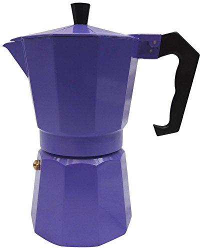 Innova Brands IVKEMP3 Italian Espresso Stove Top Coffee Maker Continental Moka Percolator Pot, Purple-P 41pYK9Bdl7L