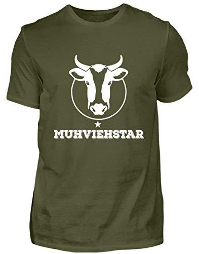 Lustiges Landwirt Shirt · Kühe · Traktor · Geschenk für Bauern · Spruch: Kuh Muhviehstar - Herren Shirt
