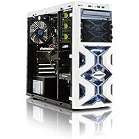 StormForce Tornado Gaming Desktop PC (White) - (Intel Core i5-6400 2.7 GHz, 16 GB RAM, 1 TB HDD, 128 GB SSD, AMD Radeon RX 480 Dedicated Graphics, DVD/RW, Wi-Fi, Windows 10)