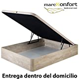 marckonfort Canapé abatible 160X200 de Gran Capacidad con Esquinas Redondeadas...