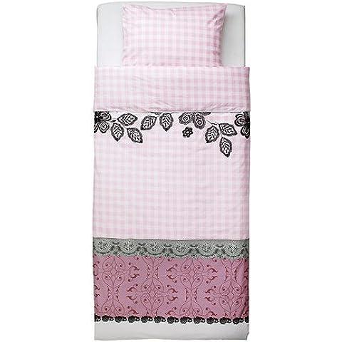 IKEA MYSTISK - funda nórdica y funda de almohada, encaje rosa - 150x200 / 50x80 cm
