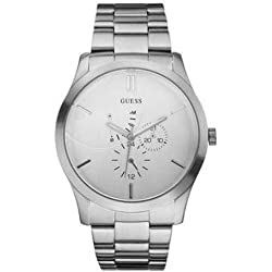Guess Men's Analogue Watch W14055G1 with Silver Dial
