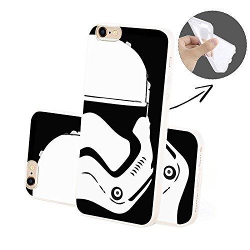 Finoo ® | Iphone 6 / 6S Handy-Tasche Schutzhülle | ultra leichte transparente Handyhülle aus weichem und flexiblen Silikon | kratzfester stoßdämpfende TPU Schale mit Motiv | stylisches Cover Etui | Ca Trooper SILIKON