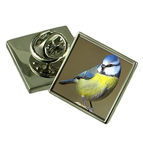 Blue Tit Oiseau Pochette Cadeau badge Pin