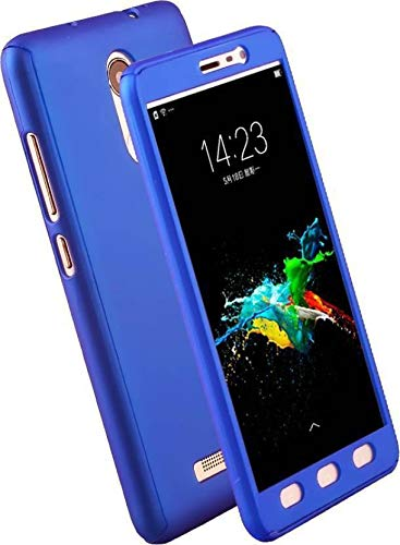 The Case Front and Back Cover for Lenovo K6 Power (Front Back Cover Ipaky, with Temper Glass (Blue)