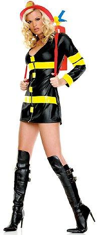 (Leg Avenue - Sexy Feuerwehrfrau Kostüm - S -)
