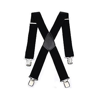 Aulola® Hosenträger für Herren, X-Form, verstellbare und elastische Hosenträger mit sehr starken Clips Gr. Einheitsgröße, Style A -5CM