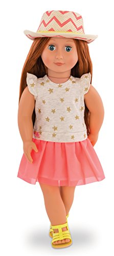 Our Generation-Puppe Klassische Clementine, bd31138z, 46cm (American Girl Puppe Rotes T-shirt)