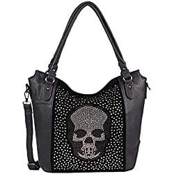 OBC Only-Beautiful-Couture - Al hombro para mujer, negro, 40x30x13 cm