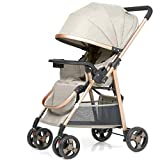 Love lamp-reisesysteme Kinderwagen kann sitzen liegend Falten Ultra Light Portable Shock Zwei-Wege-Baby-Regenschirm Neugeborenes Kind Kinderwagen (Color : Gray)