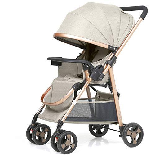 Love lamp-reisesysteme Kinderwagen kann sitzen liegend Falten Ultra Light Portable Shock Zwei-Wege-Baby-Regenschirm Neugeborenes Kind Kinderwagen (Color : Gray)