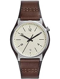 Fossil Herren Analog Quarz Uhr mit Leder Armband FS5510