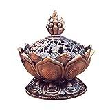 LouiseEvel215 Holy Tibetano Loto Diseñado Quemador de Incienso Aleación de Zinc Bronce Mini...