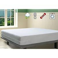 Savel, Funda de colchón Rizo 100% algodón, elástica, ajustable y muy absorbente, 135x190/200cm (para camas de 135)