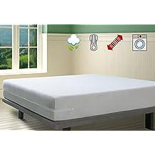 Savel, Funda de colchón Rizo 100% algodón, elástica, ajustable y muy absorbente, 105x190/200cm (para camas de 105)
