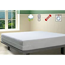 SAVEL - Funda de colchón elástica de Algodón | 80 x 190/200cm | Protector