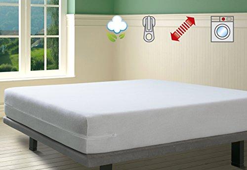 Savel, Funda de colchón Rizo 100% algodón, elástica, ajustable y muy absorbente, 150x190/200cm (para camas de 150)