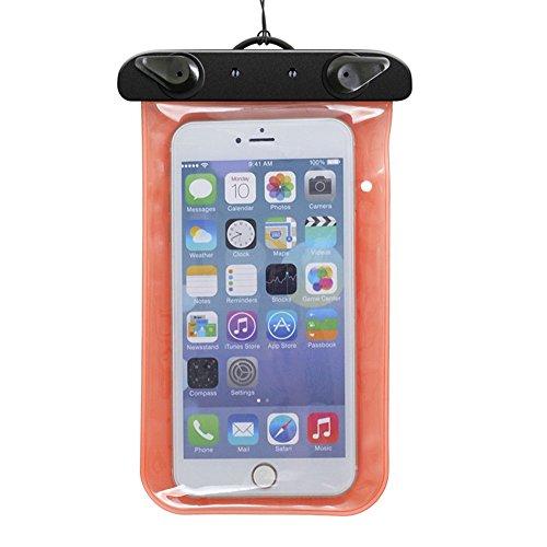 Custodia impermeabile per immersione-Fascia da braccio e custodia per dispositivi iPhone, Samsung, MP3, UKStock blu arancione