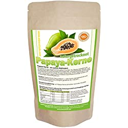 Papaya-Kerne I 150g I Papaya-Pfeffer I Papaya-Samen I ACHTUNG! KEINE HYBRID SAMEN daher sehr intensive natürliche Geschmack! I natur schonend getrocknet I Rohkost I Laborgeprüft